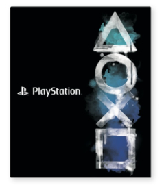 Playstation ringband 23r zwart/blauw (7786)
