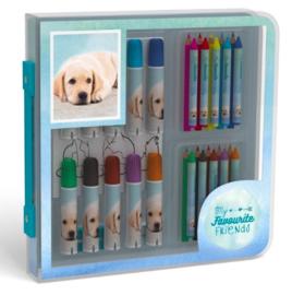 My favourite friends kleurkoffer hond