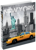 "25mm PP opbergmap 2 rings ""New York"" (1326)"