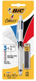 BIC 3 kleuren pen met vulpotlood