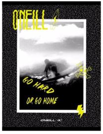 O'Neill boy's A4 schrift gelinieerd zwart/geel (3758)