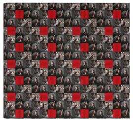 Star Wars kaftpapier zwart / rood (4090)