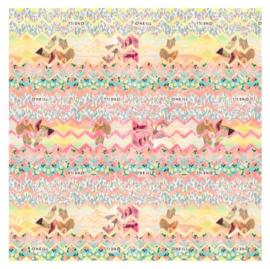 """O'Neill girls kaftpapier """"roze/geel"""" (6214)"""
