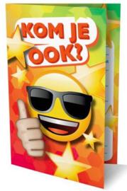 Emoji uitnodiging kaarten (7565)