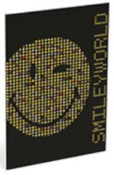 Emoticons A4 schrift geruit (4159)