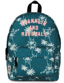 Franklin & Marshall rugzak blauw met palmbomen (9548)