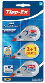Tipp-Ex Mini Pocket Mouse correctieroller 2+1 gratis (5240)