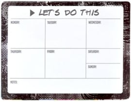 weekplanner met notities (7889)