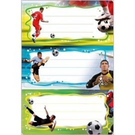 Voetbal naam stickers (5661)