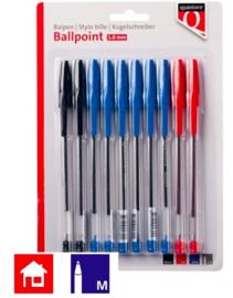 Budget balpennen blauw rood zwart (3822)