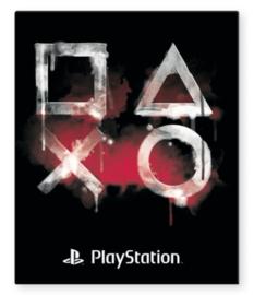 Playstation ringband 2r zwart/rood (7724)