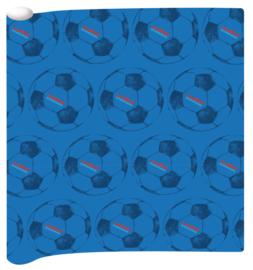 Voetbal International kaftpapier blauw (4275)