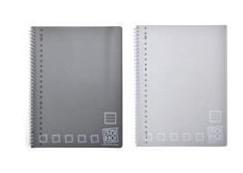 2x Collegeblok gelinieerd grijs (8857)