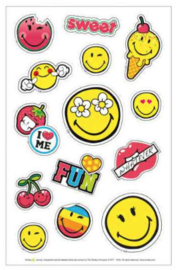 Smiley stickers girls