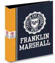 Franklin & Marshall ringband 23 rings oranje/gele rand