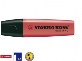 Stabilo Boss markeerstift rood