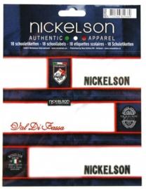 Nickelson etiketten blauw (9369)
