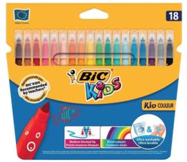 Bic kids couleur viltstiften 18-delig (2734)