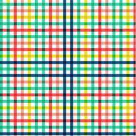 Kaftpapier dik Happy Grid (9723)