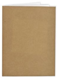Bruin kraft schrift A4 ruit