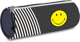 Smileyworld etui zwart/grijs rond (7977)