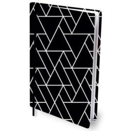Dresz rekbaar kaft black/white lines A4 (0130)