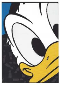 Donald Duck A4 schrift geruit zwart (7444)