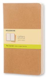 Moleskine Plain journal kraft schrift 3x