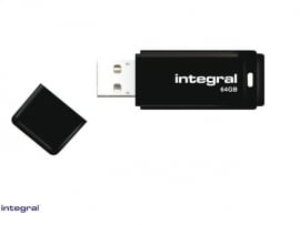 USB 2.0 stick zwart 64GB