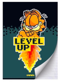 "Garfield boy's A4 schrift lijn ""level up"" (4553)"
