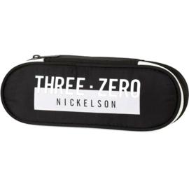 Nickelson etui zwart wit plat (0049)