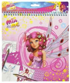 Kleurplaten Mia and Me met sjablonen en stickers (4880)