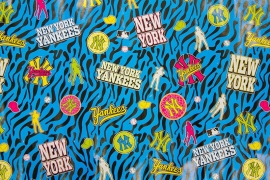 New York Yankees Girls kaftpapier blauw (5614)