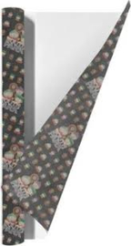 South Park kaftpapier zwart/antraciet (1149)