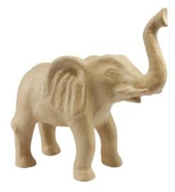 Kraft olifant groot papier maché (0067)