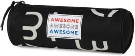 Awesome boy's etui rond black (8268)