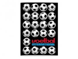 Voetbal international schrift A4 gelinieerd (4307)