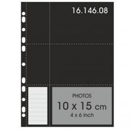 Henzo 16.146.08 10x15 fototassen zwart schrijfstrook