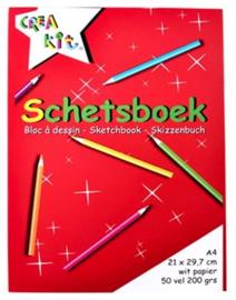 A4 schetsboek 200gr (8154)