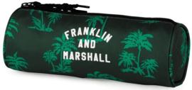 Franklin & Marshall boy's  etui rond groen (9241)
