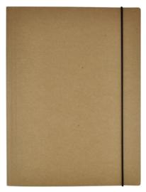 Kraft elastomap A4 bruin (2374)