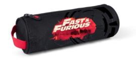 Fast & Furious etui zwart/rood rond (7387)