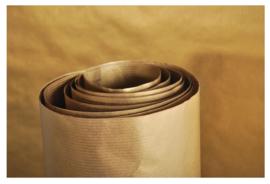Kraftpapier goud 3m x 70cm (9755)