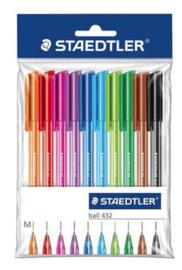Staedtler ball 432 balpennen gekleurd (2228)