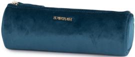 Supertrash etui velvet blauw rond (6866)
