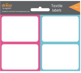 Textiel labels rekbaar kaft roze/blauw (1979)