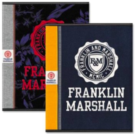 Franklin & Marshall boy's A5 schrift blauw/oranje (9712)
