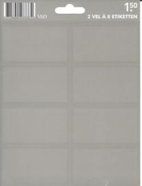 Effen grijze etiketten (2497)