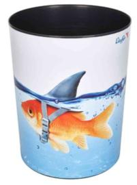 "Prullenmand ""goudvis haai"" (6608)"