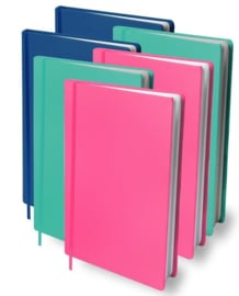 Dresz rekbaar kaft mix roze/mint/blauw A4